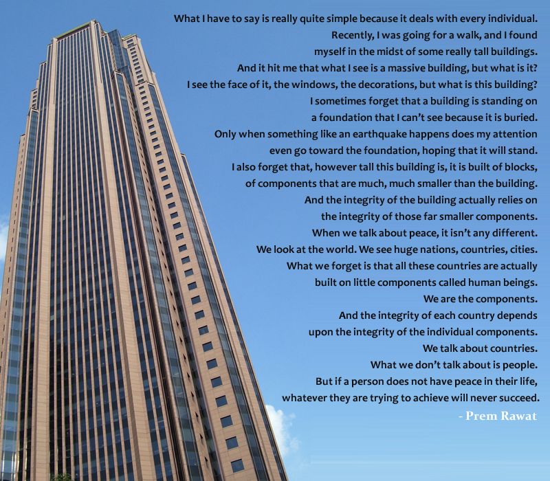 skyscraper,tall building,Prem Rawat,quote