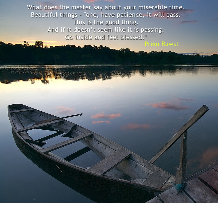 boat,shore,serene,Prem Rawat,quote
