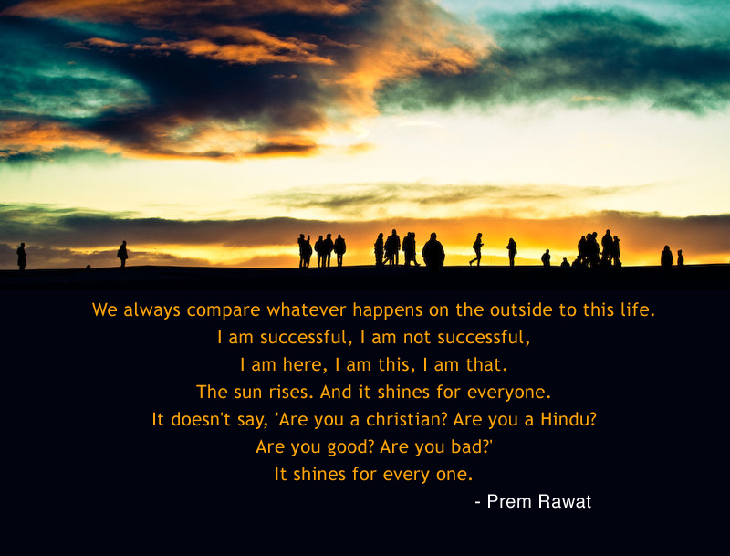 silhouette,people,evening,Prem Rawat,quote