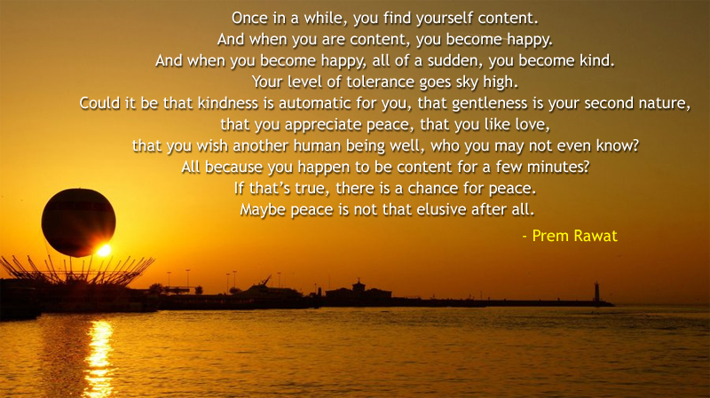 air baloon,sunset,Prem Rawat,quote