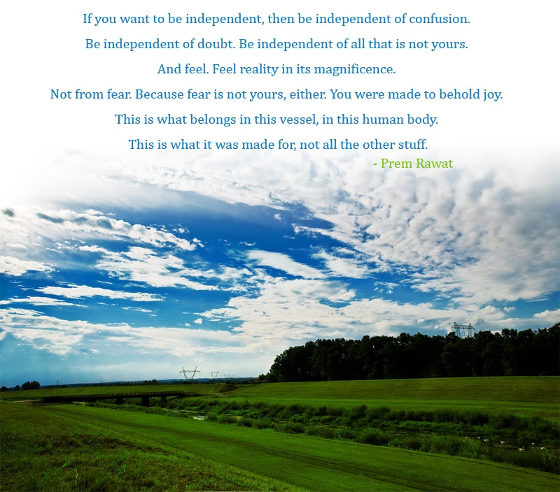 open sky field,Prem Rawat,quote