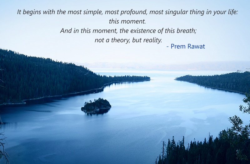 silent water,Prem Rawat,quote