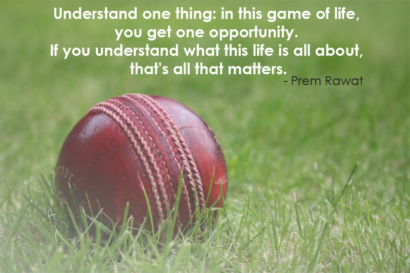 cricket,ball,sport,Prem Rawat,quote