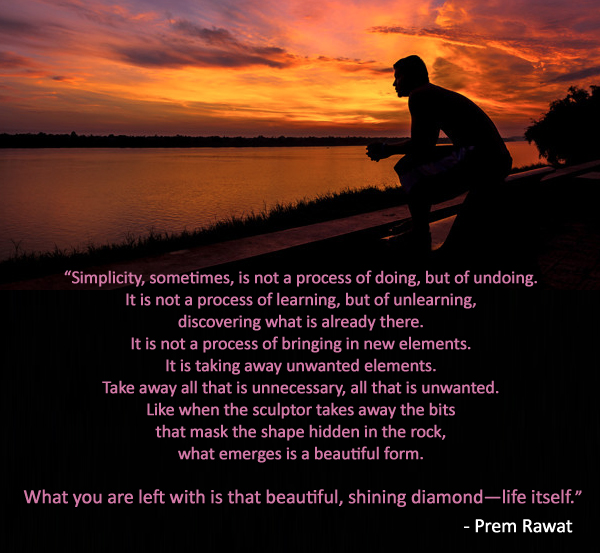 Silhouette, man, sitting,Prem Rawat,quote
