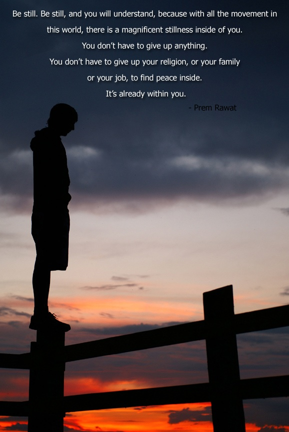 silhouette,boy,standing,boundary,Prem Rawat,quote