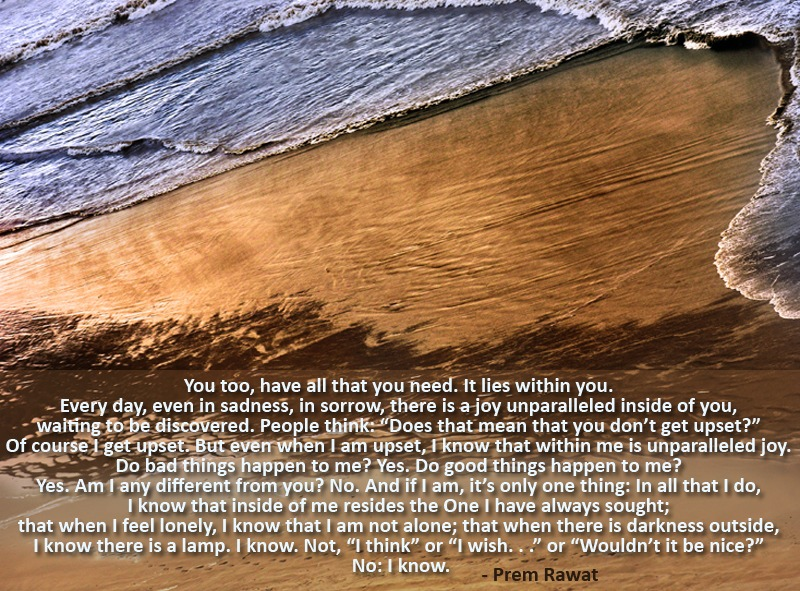 sea sand,washing shore,Prem Rawat,quote
