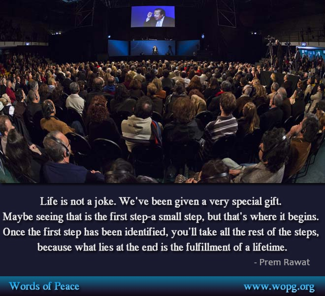 event,hall,auditorium,Prem Rawat,quote