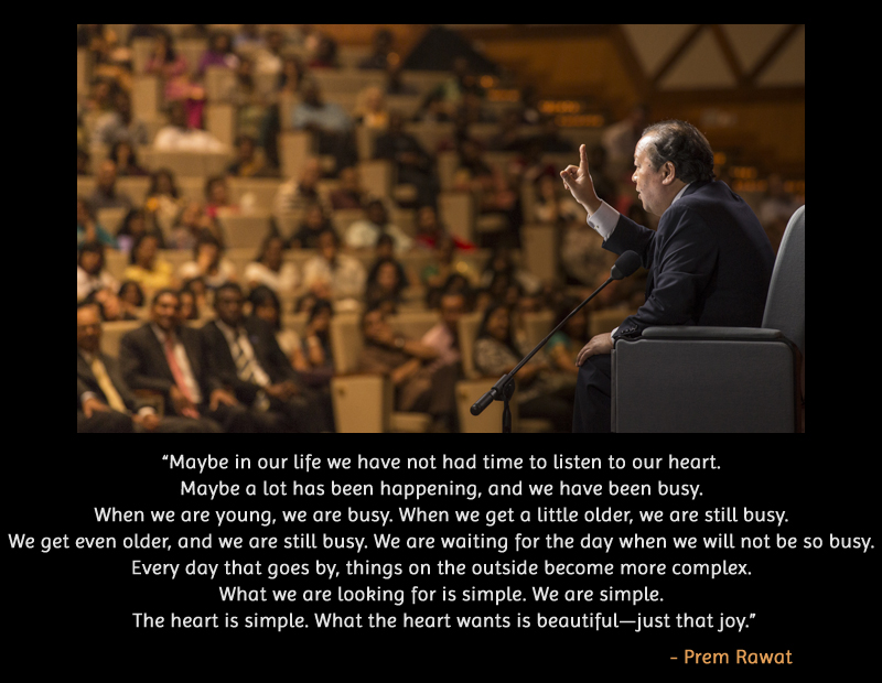 event,auditorium,Prem Rawat,quote
