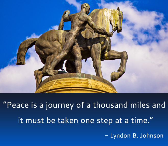horse,statue,Lyndon B. Johnson,quote