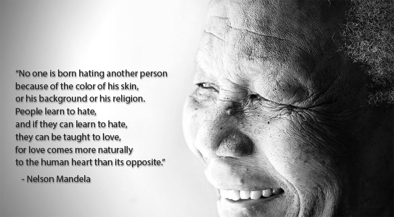 black and white, portrait,Nelson Mandela,quote