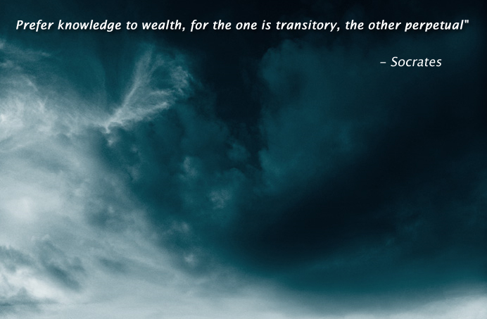 dark thunder clouds,Socrates,quote
