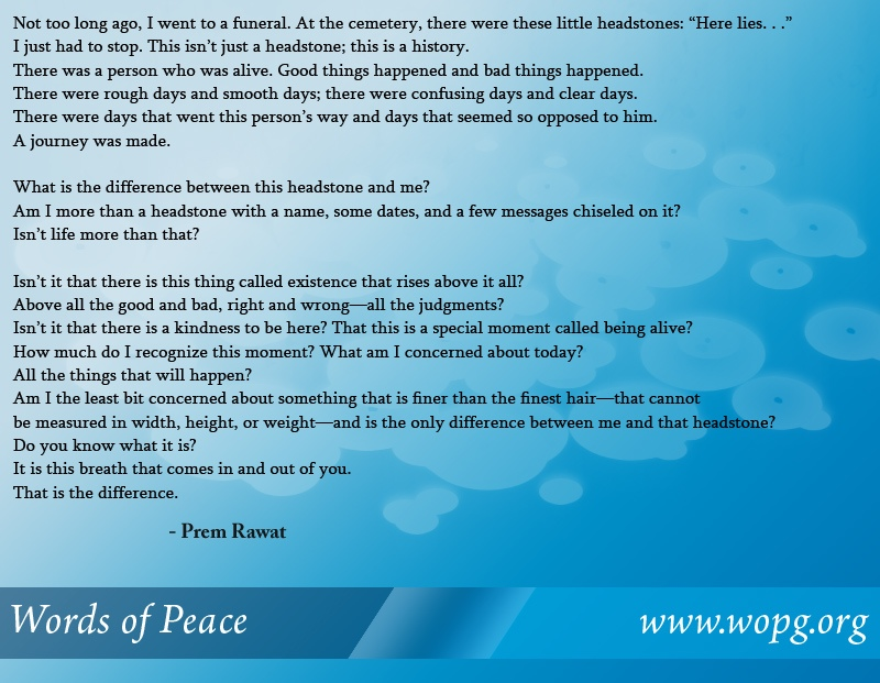 blue abstract bubbles,Prem Rawat,quote