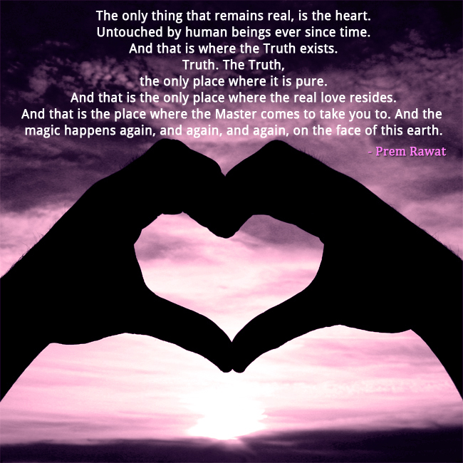 heart abstract,Prem Rawat,quote