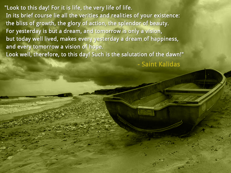 boat,dramatic sky,Saint Kalidas,quote