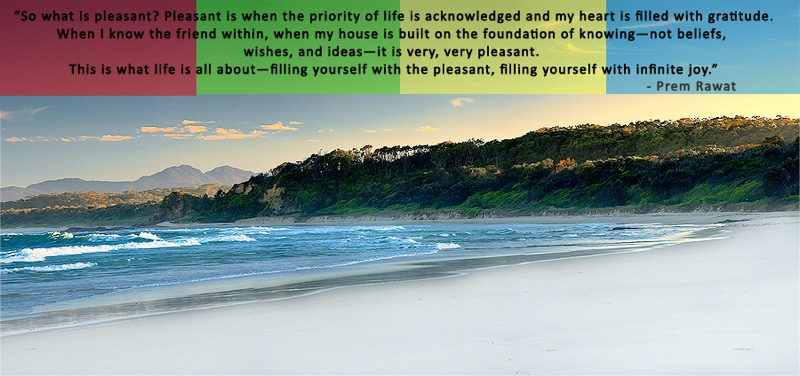 beach,colors,Prem Rawat,quote