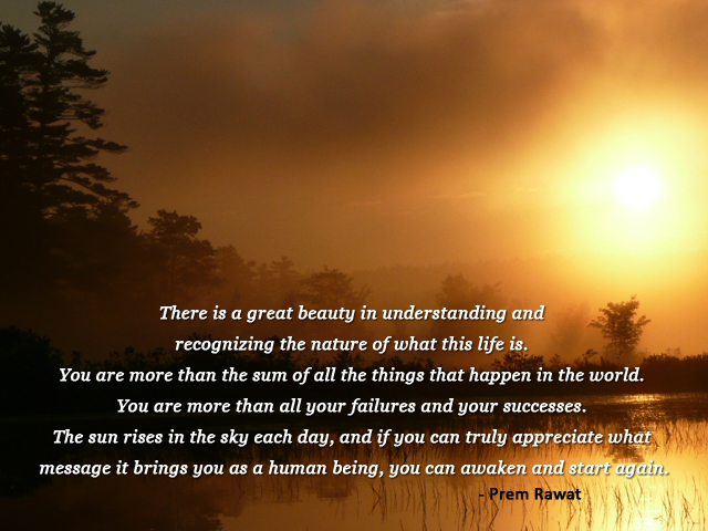 evening,Prem Rawat,quote