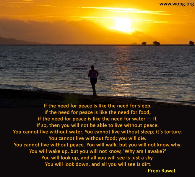 sunset,man,sea,Prem Rawat,quote