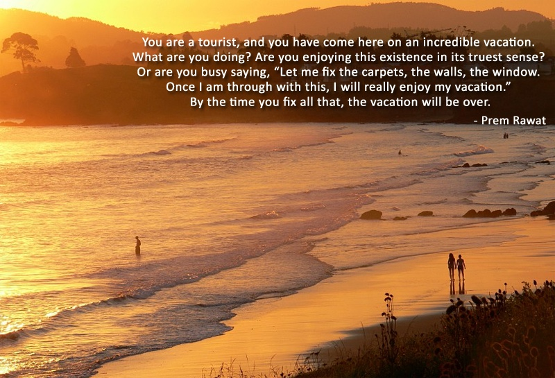 sea beach,Prem Rawat,quote