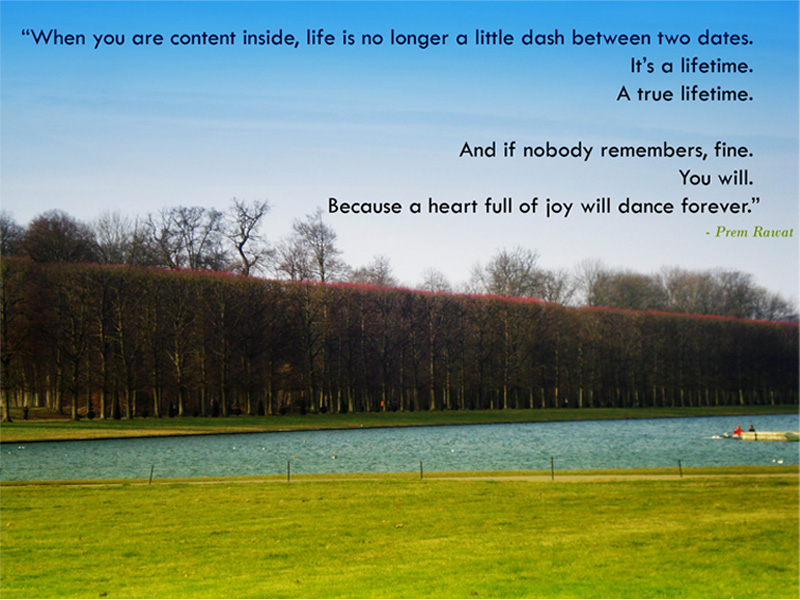 green,road,tree,Prem Rawat,quote