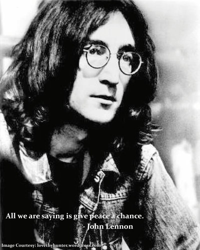 portrait,glasses,John Lennon,quote