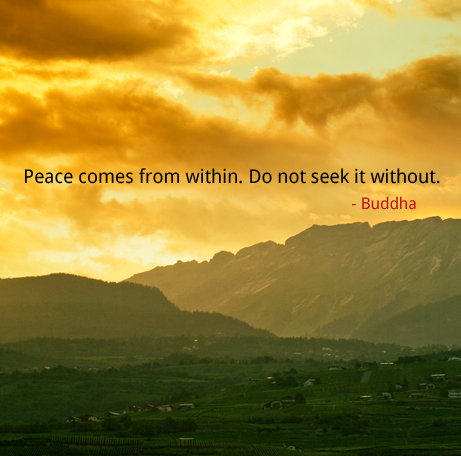 dramatic sky,Buddha,quote