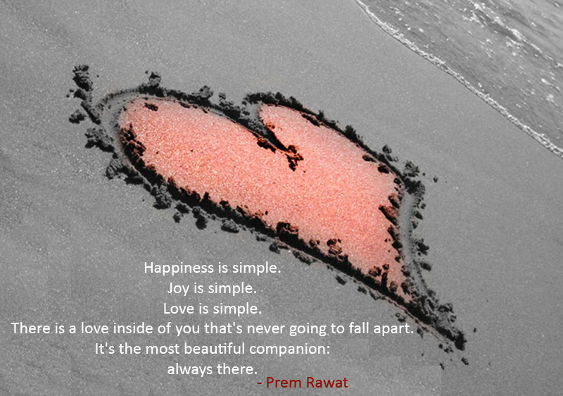 heart,sand,beach,Prem Rawat,quote
