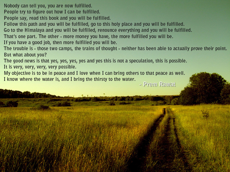 road, green field,Prem Rawat,quote