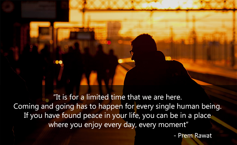 railway station, glasses,Prem Rawat,quote