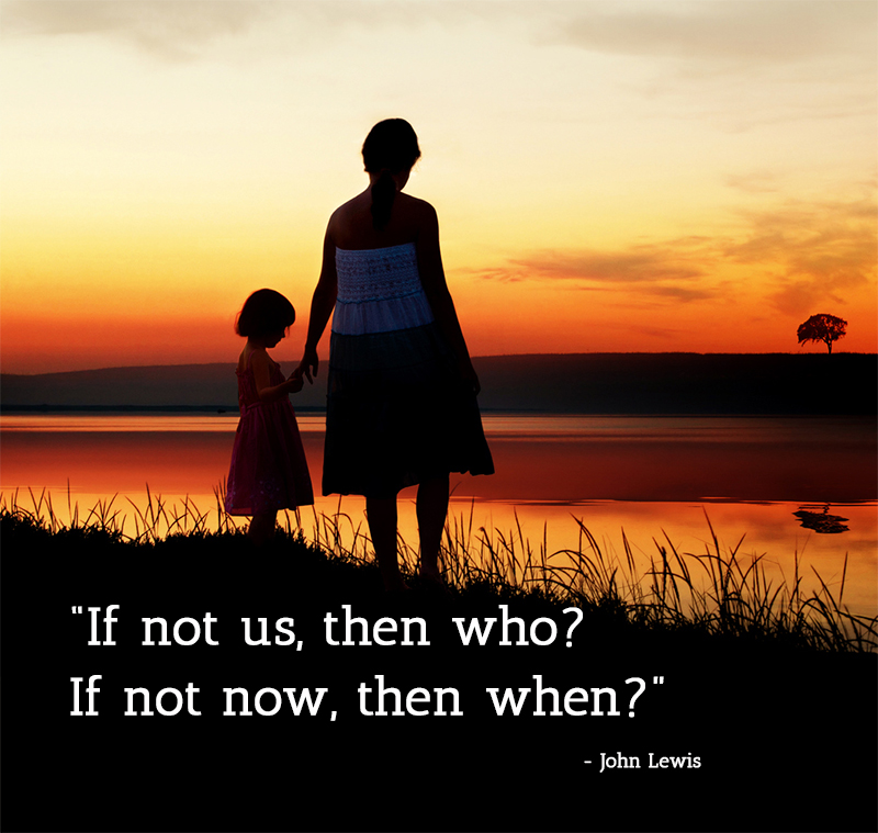 mother,child,John Lewis,quote
