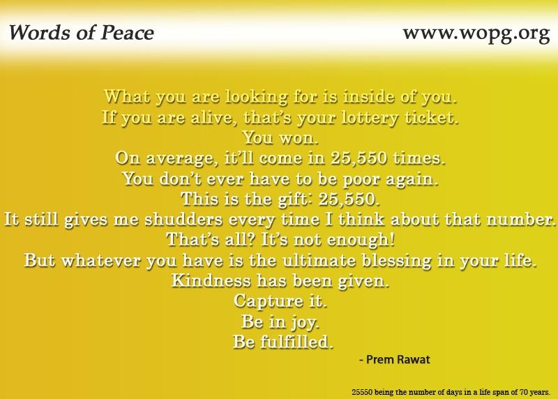 yellow,Prem Rawat,quote