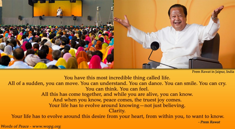 india event,yellow,Prem Rawat,quote