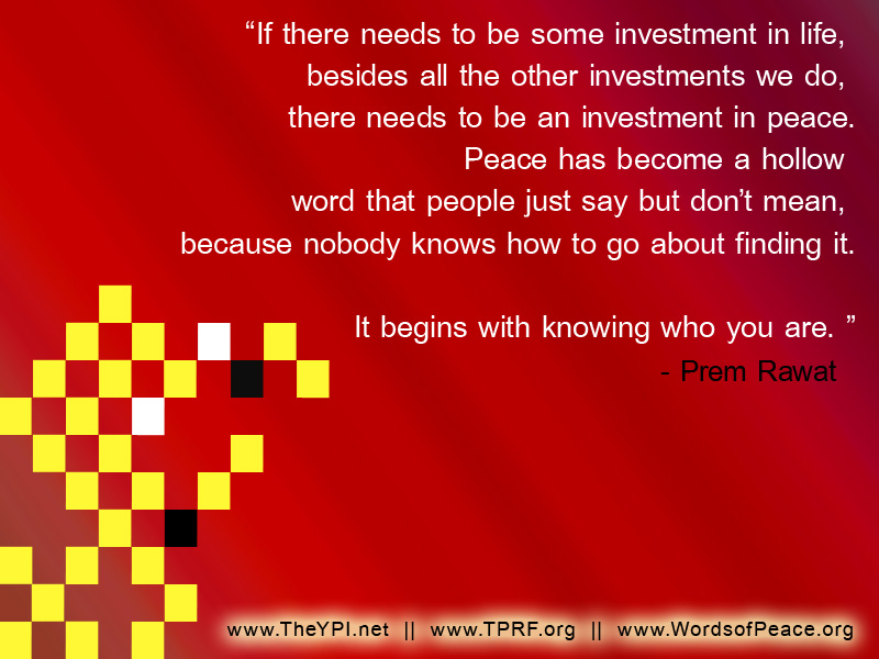 red,yellow square,Prem Rawat,quote