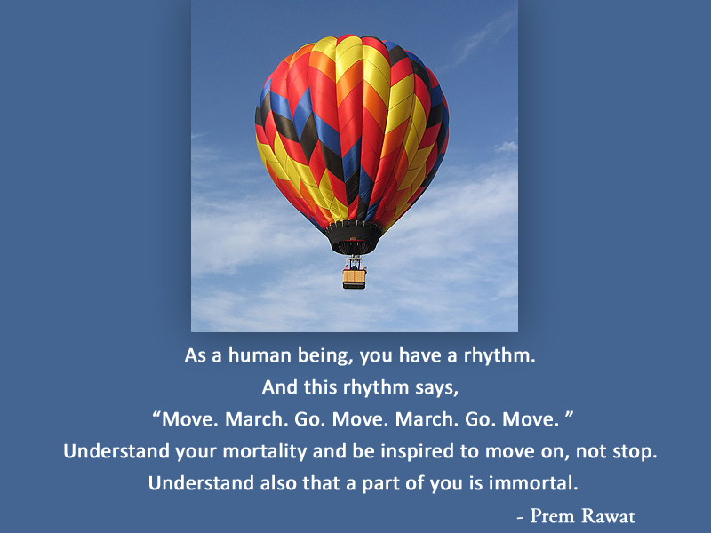 hot air balloon,Prem Rawat,quote
