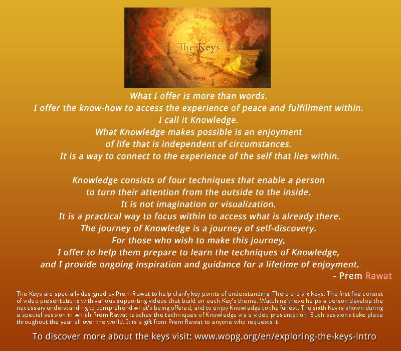 The Keys,Prem Rawat,quote