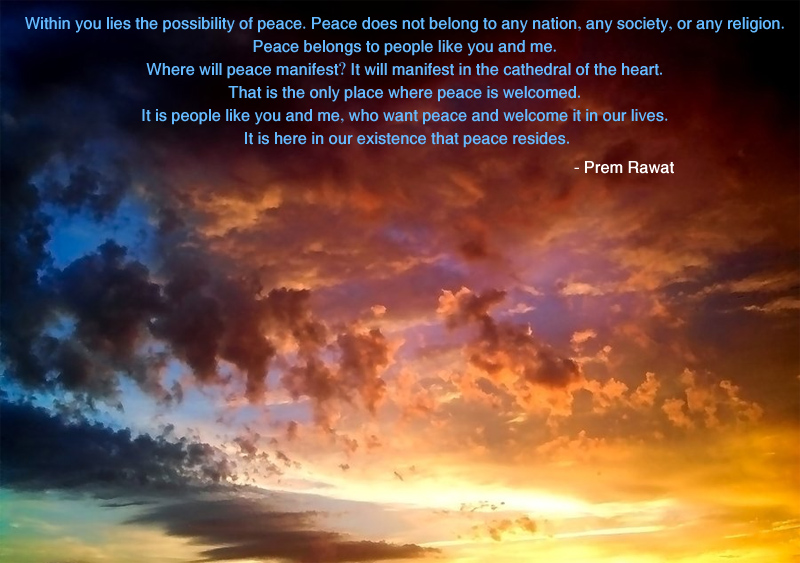 yellow evening sky,Prem Rawat,quote