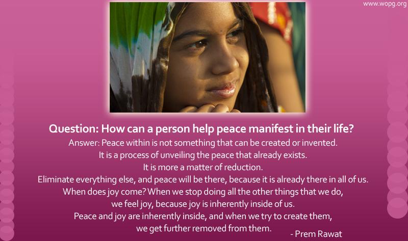 indian lady listening,Prem Rawat,quote