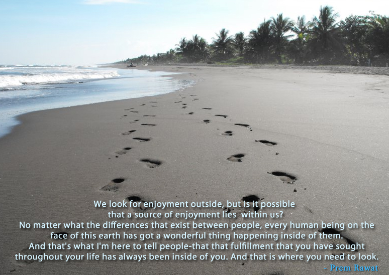 footmark,walk,beach,sand,Prem Rawat,quote
