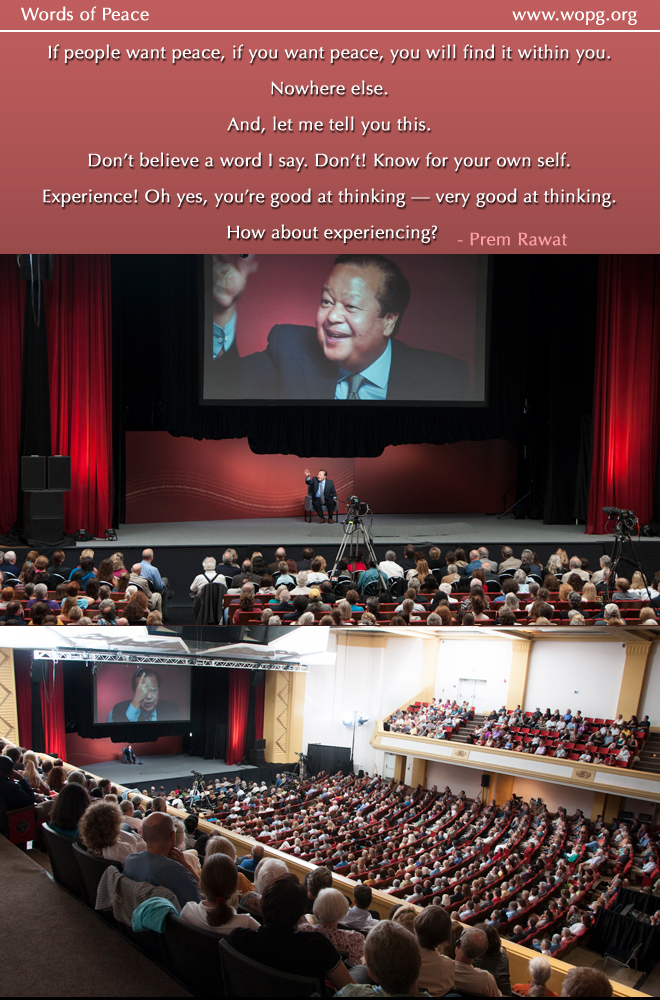 event,hall,auditorium,Prem Rawat at Asheville, US (2012),quote