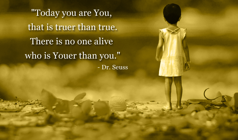 girl child standing,Dr. Seuss,quote