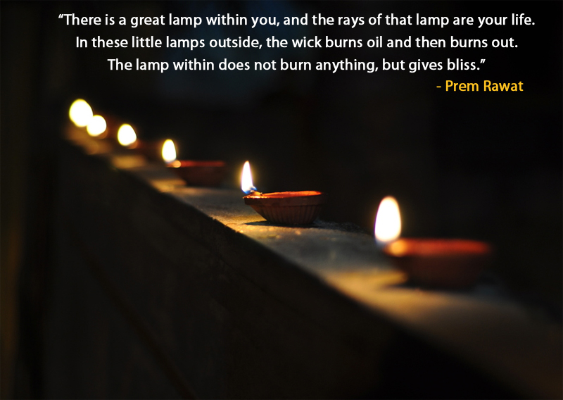 lamp,diya,light,dark,Prem Rawat,quote