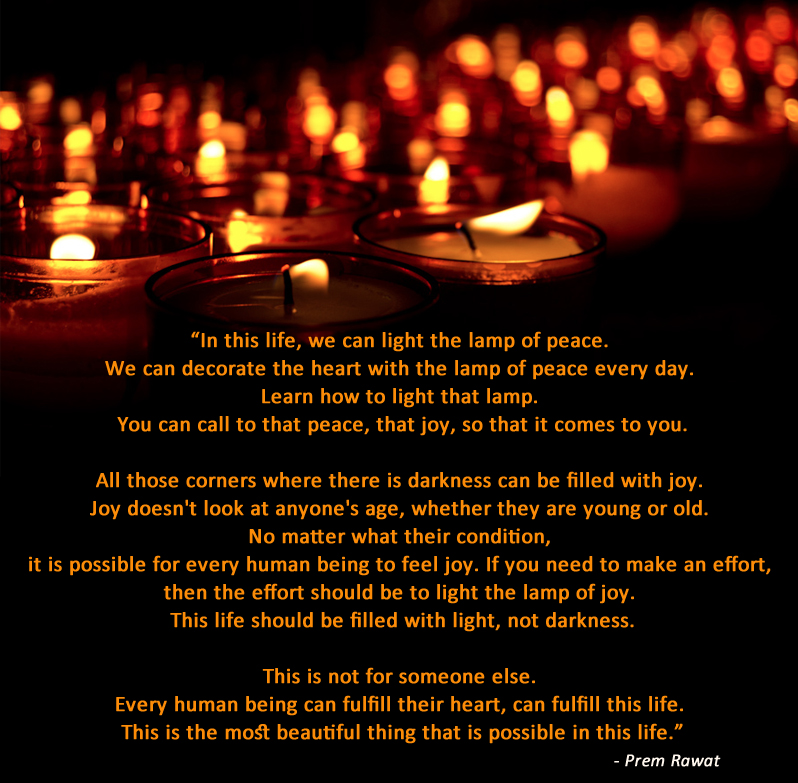 lamp,candle,dark,light,Prem Rawat,quote