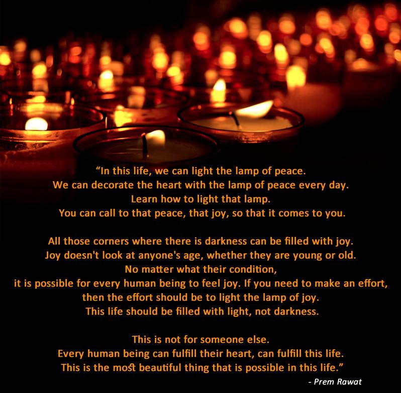 lamp,candle,dark,light,Prem Rawat,quote