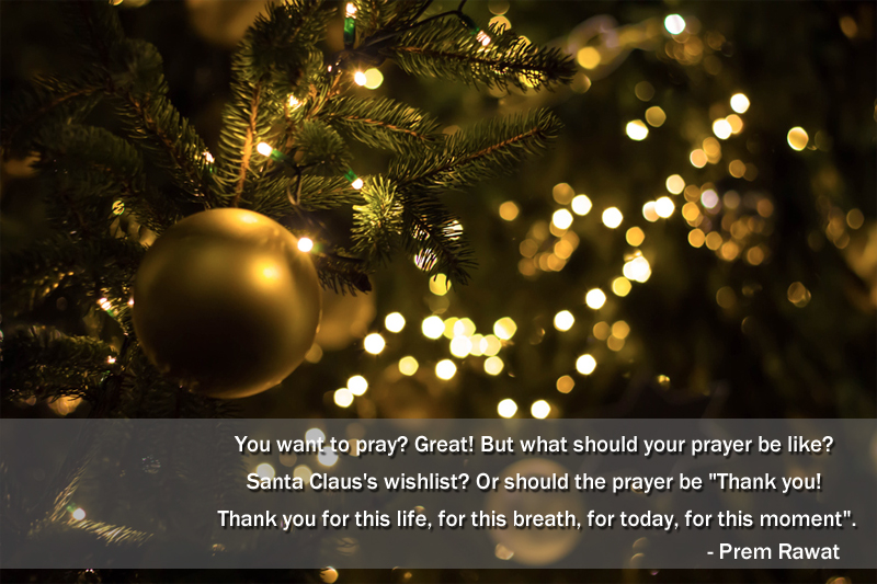 christmas tree,ball,gift,Prem Rawat,quote