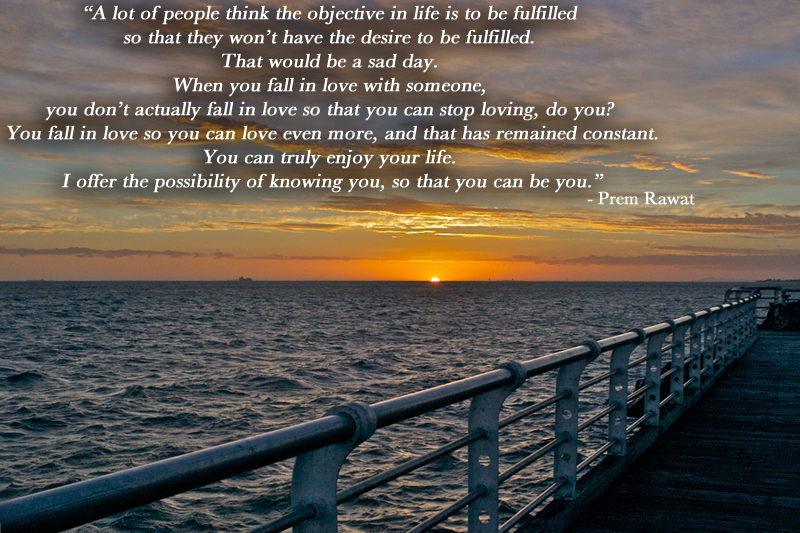 sunset,sea,Prem Rawat,quote