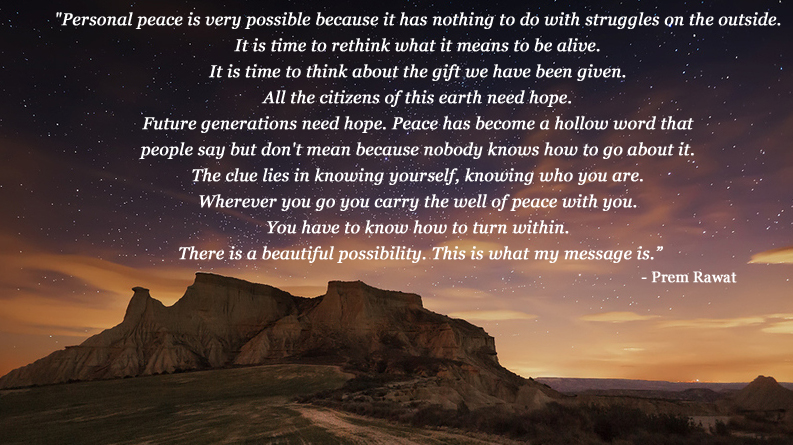 mountain, evening,Prem Rawat,quote
