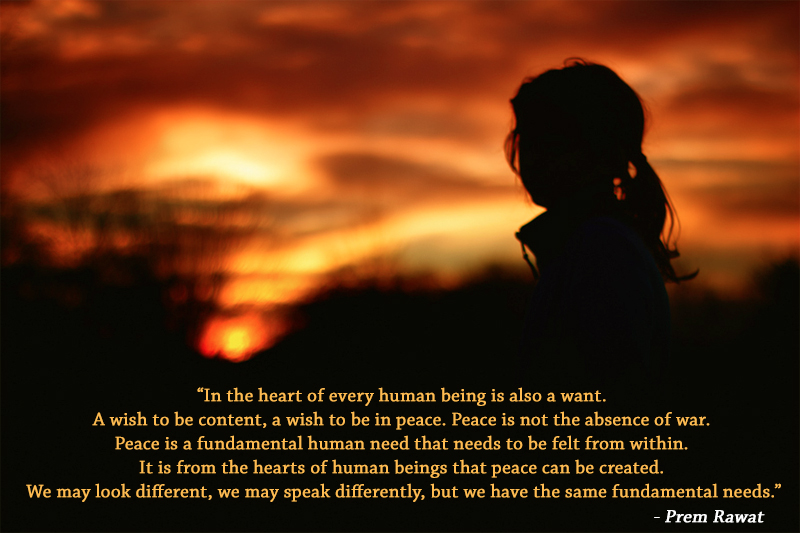 girl child,evening,Prem Rawat,quote
