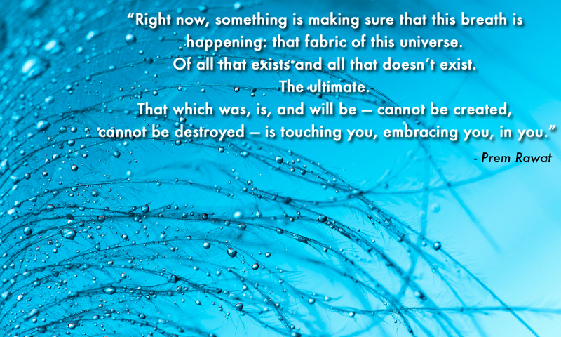 blue drops,Prem Rawat,quote