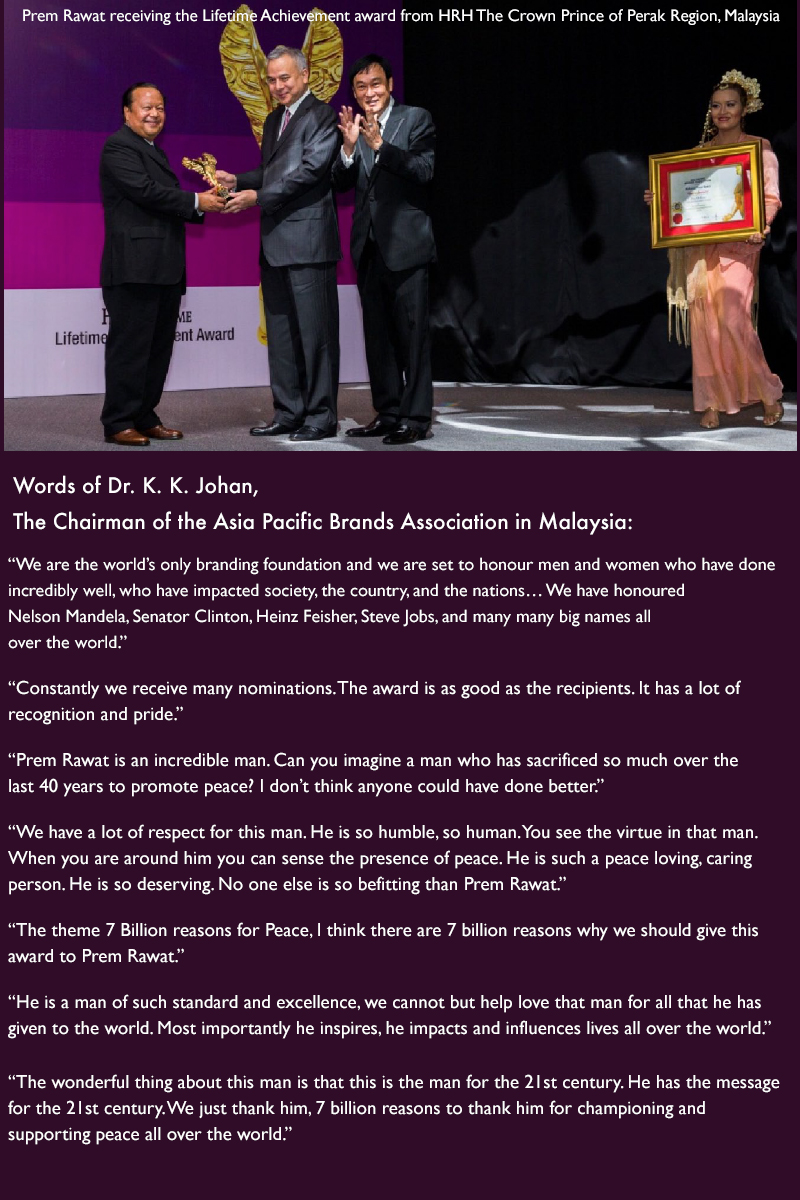 award ceremony,Dr. K. K. Johan, The Chairman of the Asia Pacific Brands Association in Malaysia,quote