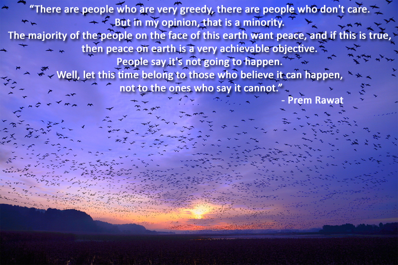 blue sky,birds,Prem Rawat,quote