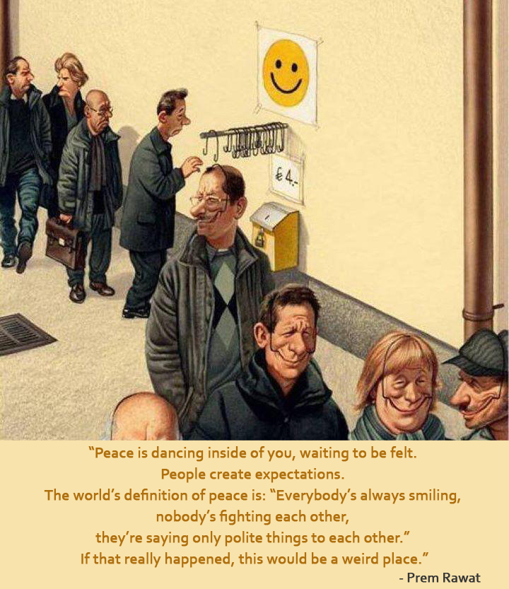 caricature,smiley,smiling,Prem Rawat,quote